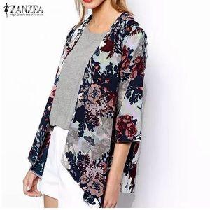 Zanzea Women's Boho Kimono Cardigan Shawl Chiffon